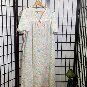 Vintage Aria Floral Robe/Duster Size M